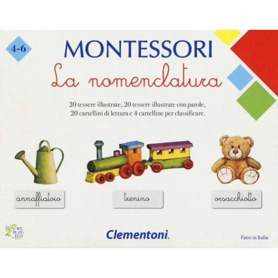 MONTESSORI LA NOMENCLATURA